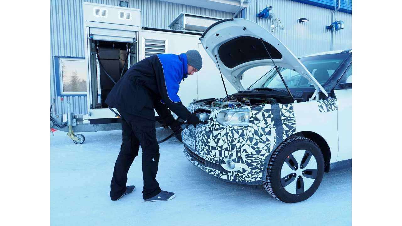 Kia Soul EV in extreme winter testing