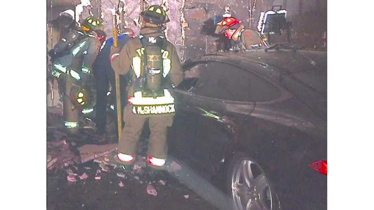 Tesla Model S Catches Fire In Toronto Garage - EV Was Not Plugged In