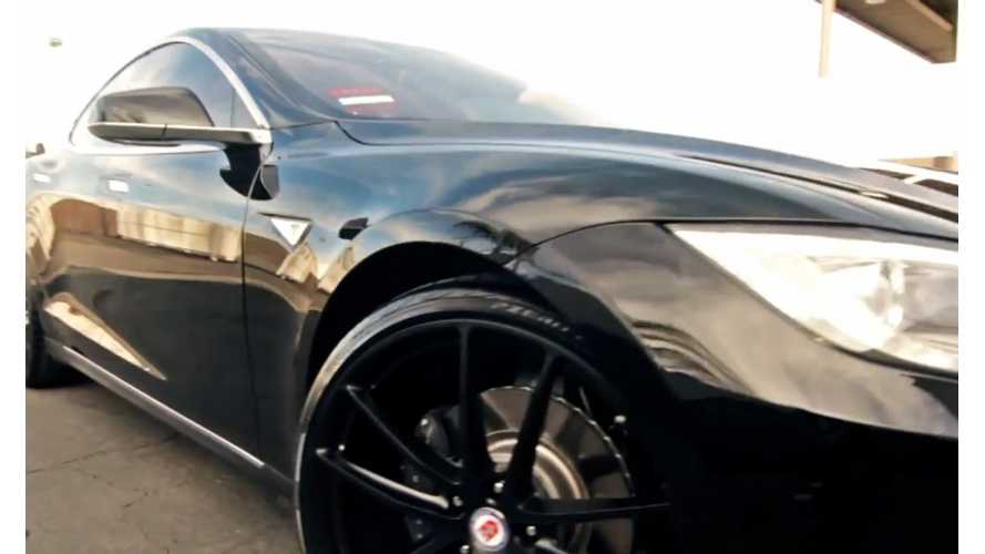 Video: Tesla Model S Gets Modded With HRE Wheels