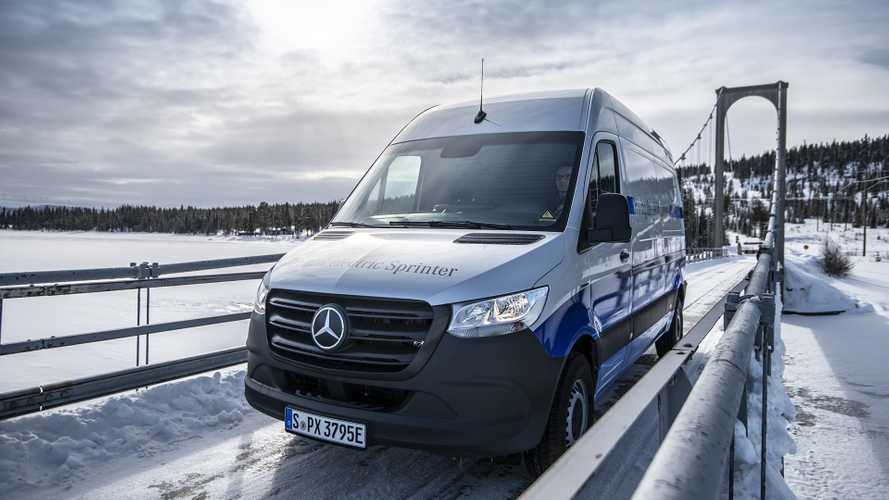 Mercedes eSprinter, winter test