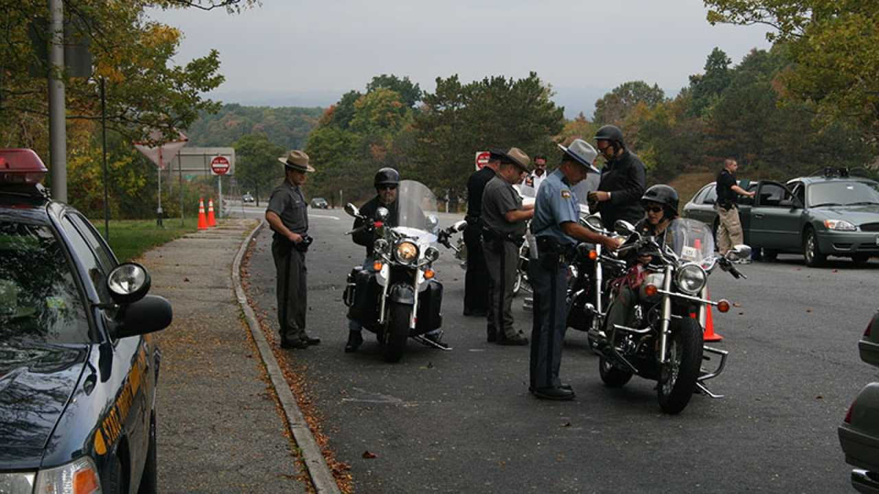 Motorcycle Police Checkpoint