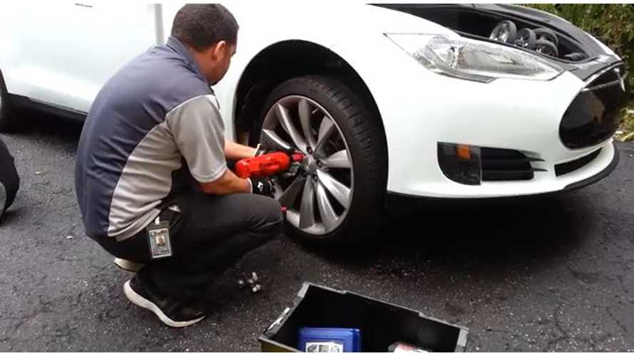 Video: Watch a Tesla Ranger Repair a Model S on Location