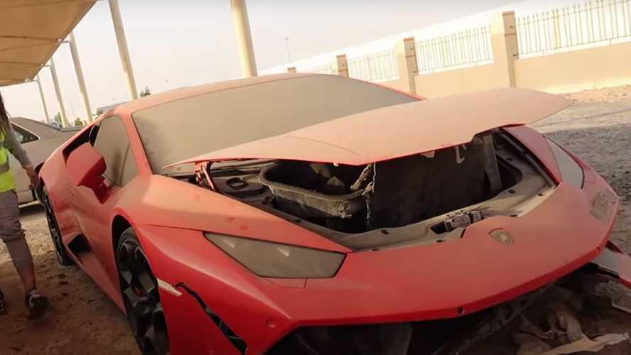 Ferrari (e non solo) incidentate. Il cimitero delle supercar a Dubai