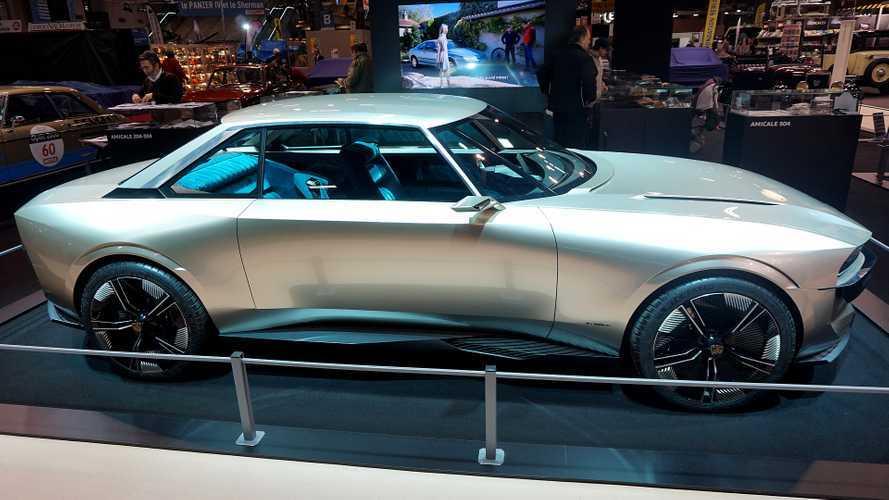 Photos - La Peugeot e-Legend, toujours aussi belle à Rétromobile