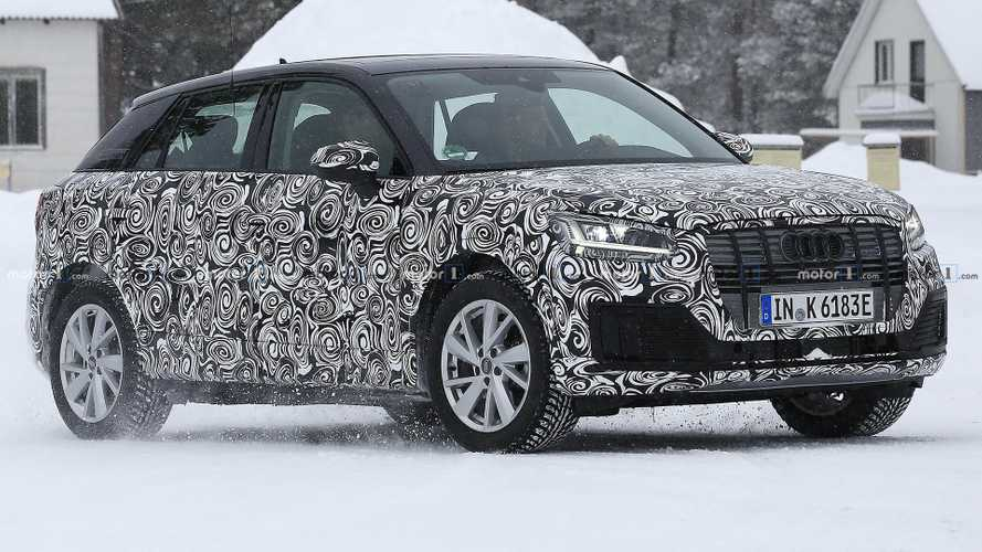 Audi Q2 E-Tron spied testing electric powertrain in the snow