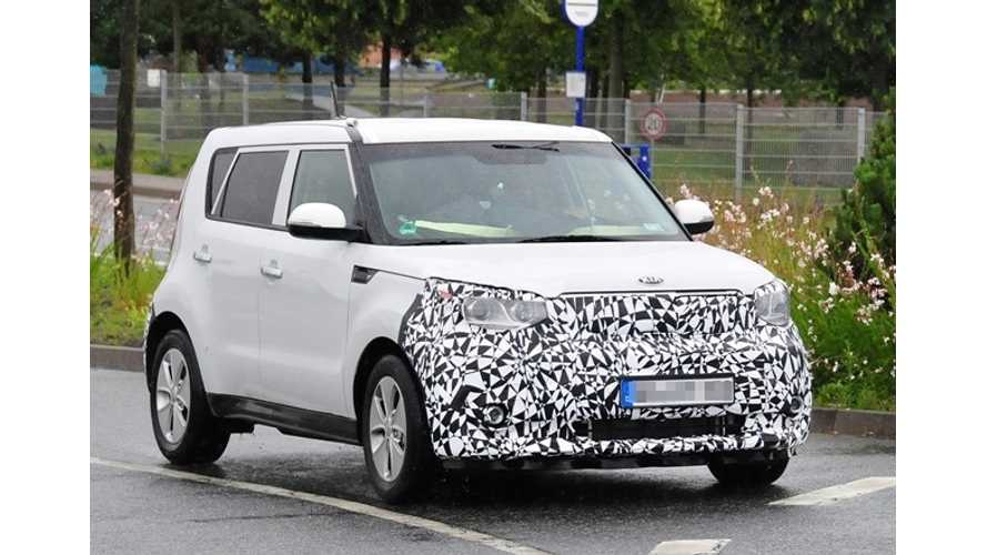 Kia Soul EV Spotted (photos)