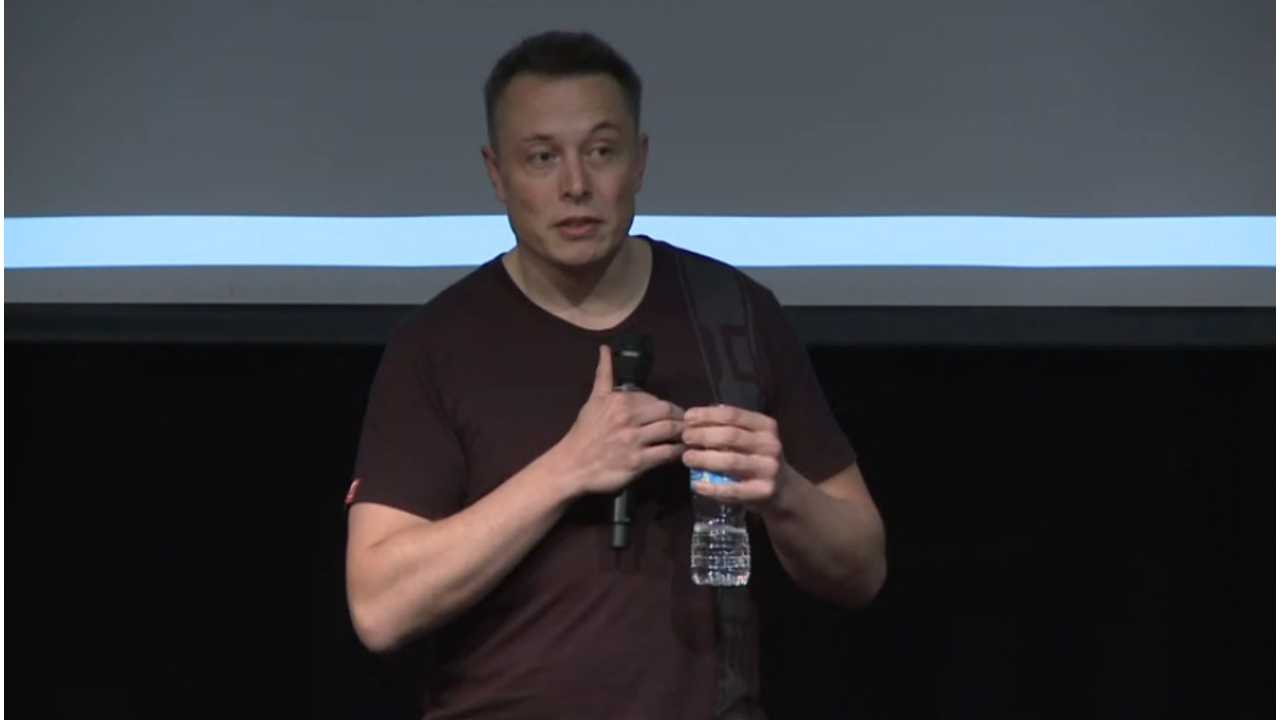 Tesla CEO at annual meeting