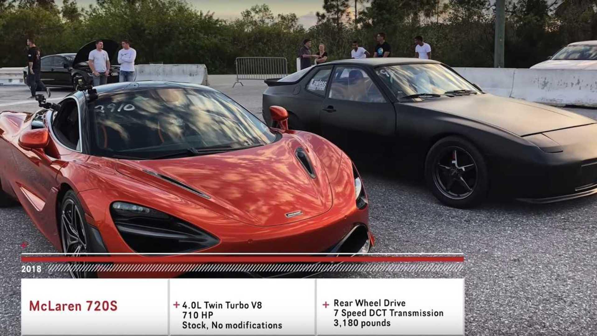 "[""McLaren 720S vs Electric Porsche Drag Race""]"