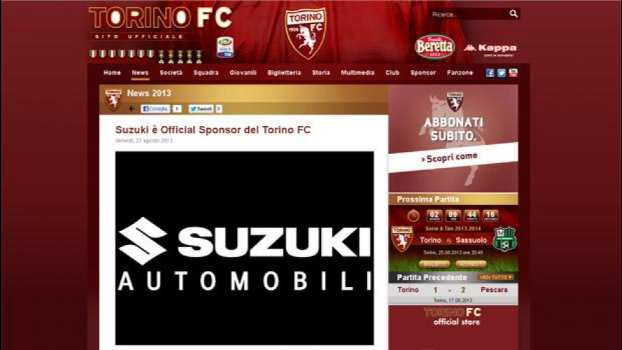 Suzuki è il nuovo sponsor del Torino FC