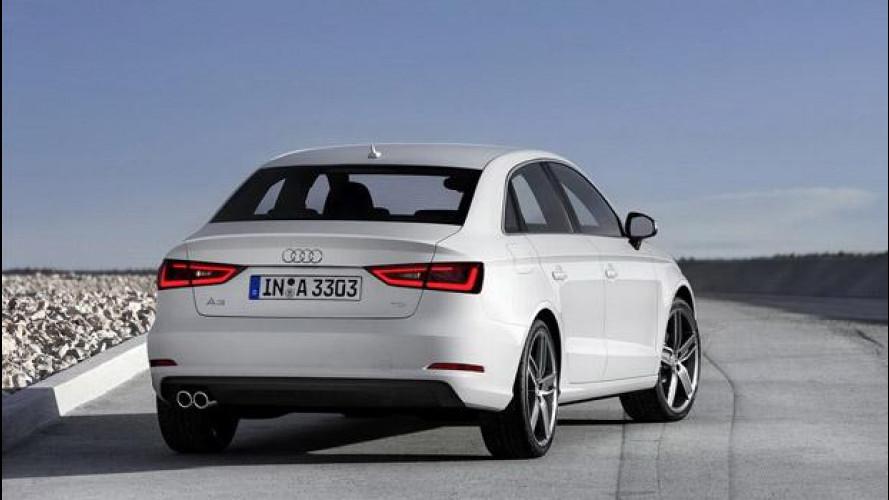 Audi A3 berlina, la tre volumi a 4 porte compatta dei Quattro Anelli