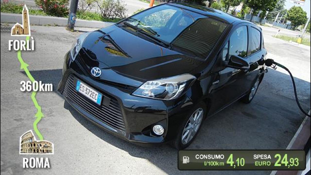 [Copertina] - Toyota Yaris Hybrid, la prova dei consumi