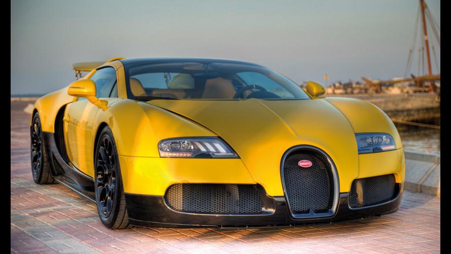 Bugatti Veyron 16.4 Grand Sport: gialla per il Qatar