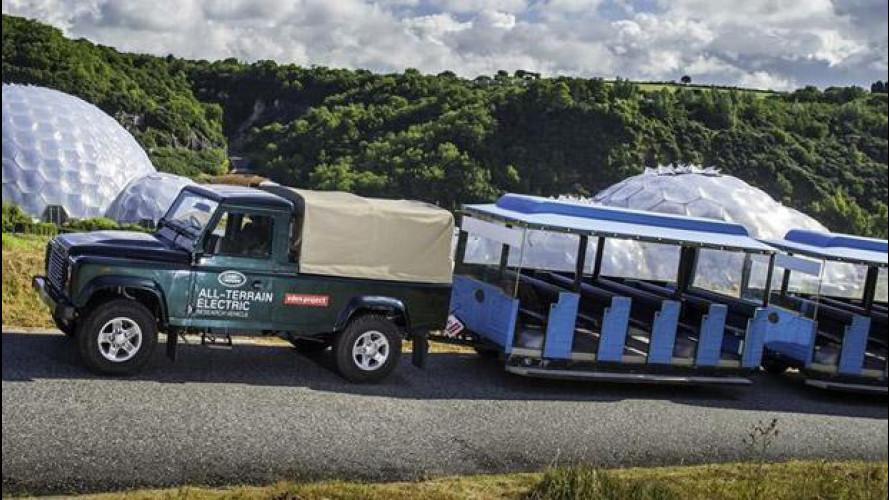 Land Rover Electric Defender, impegnato nel parco giochi