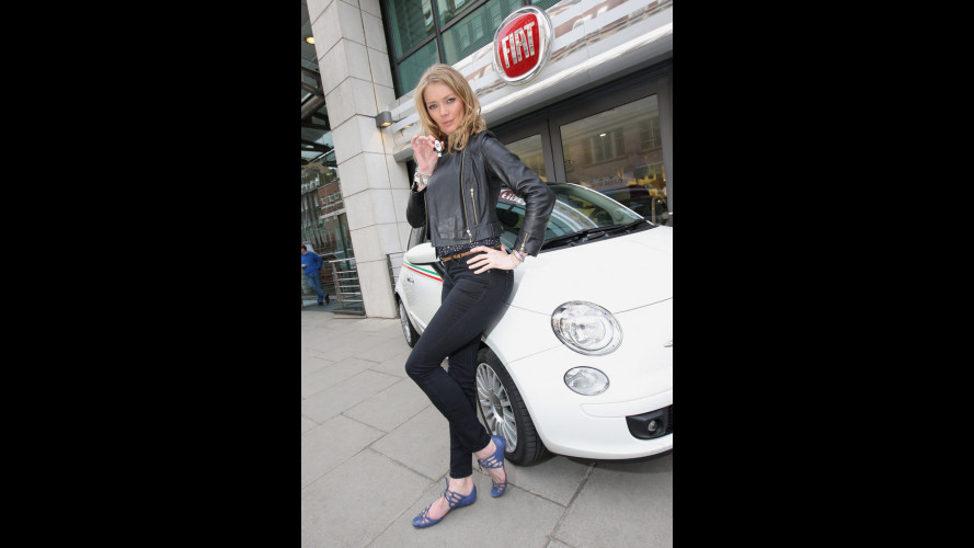 Una Top Model per una Fiat 500 EcoDrive