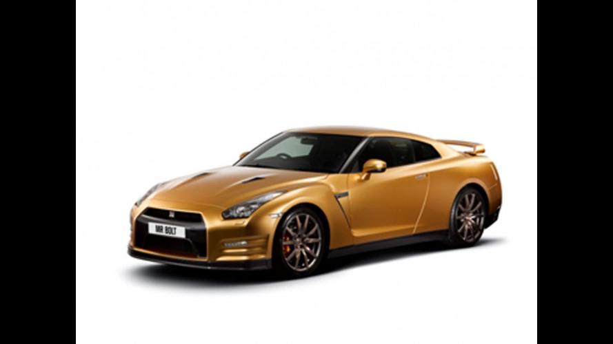 Un'esclusiva Nissan GT-R color oro per Usain Bolt