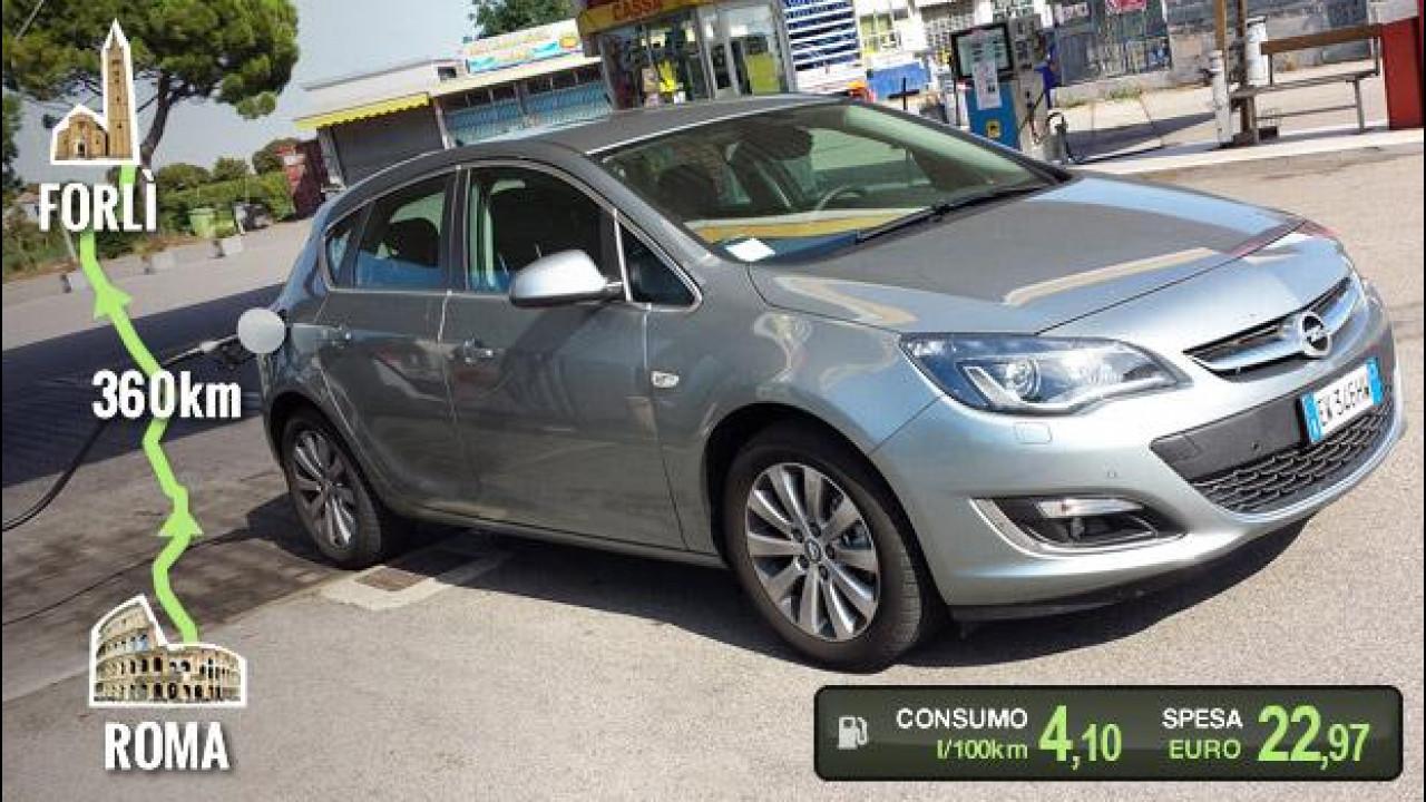 [Copertina] - Opel Astra 1.6 CDTI, la prova dei consumi