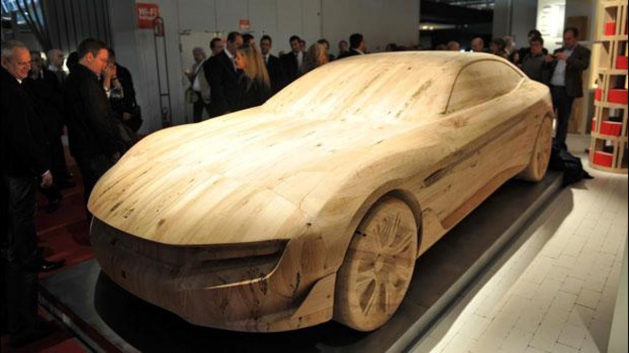 [Copertina] - Pininfarina Cambiano è diventata una scultura in legno