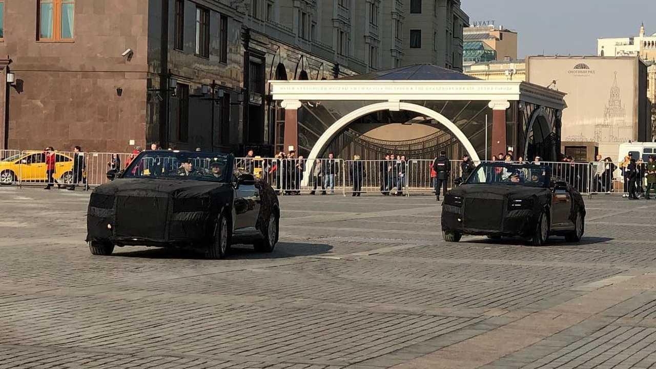 Кабриолет Aurus сняли на Красной площади