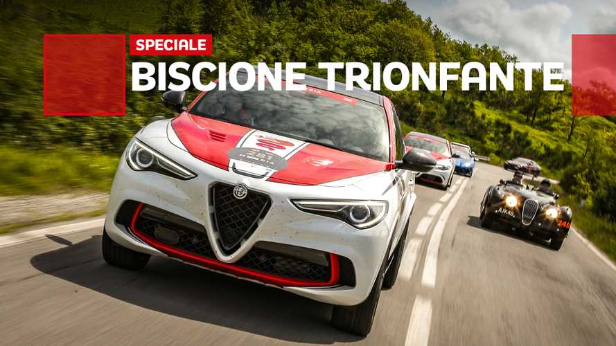 La Mille Miglia vista da un'Alfa Romeo Stelvio da Formula 1