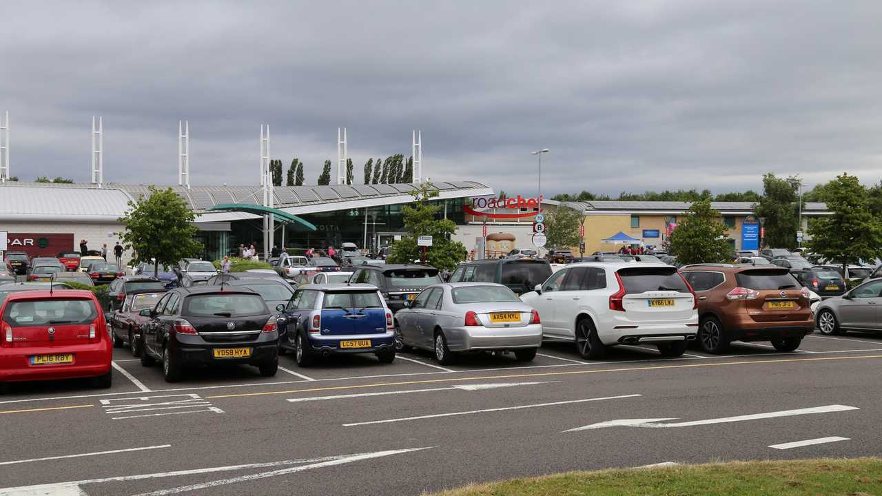 M6 toll road services in Norton Canes Staffordshire UK