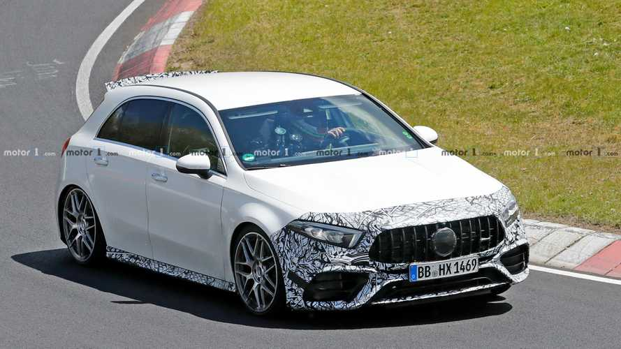 2020 Mercedes-AMG A45 Spied Looking Sedate At The Nürburgring
