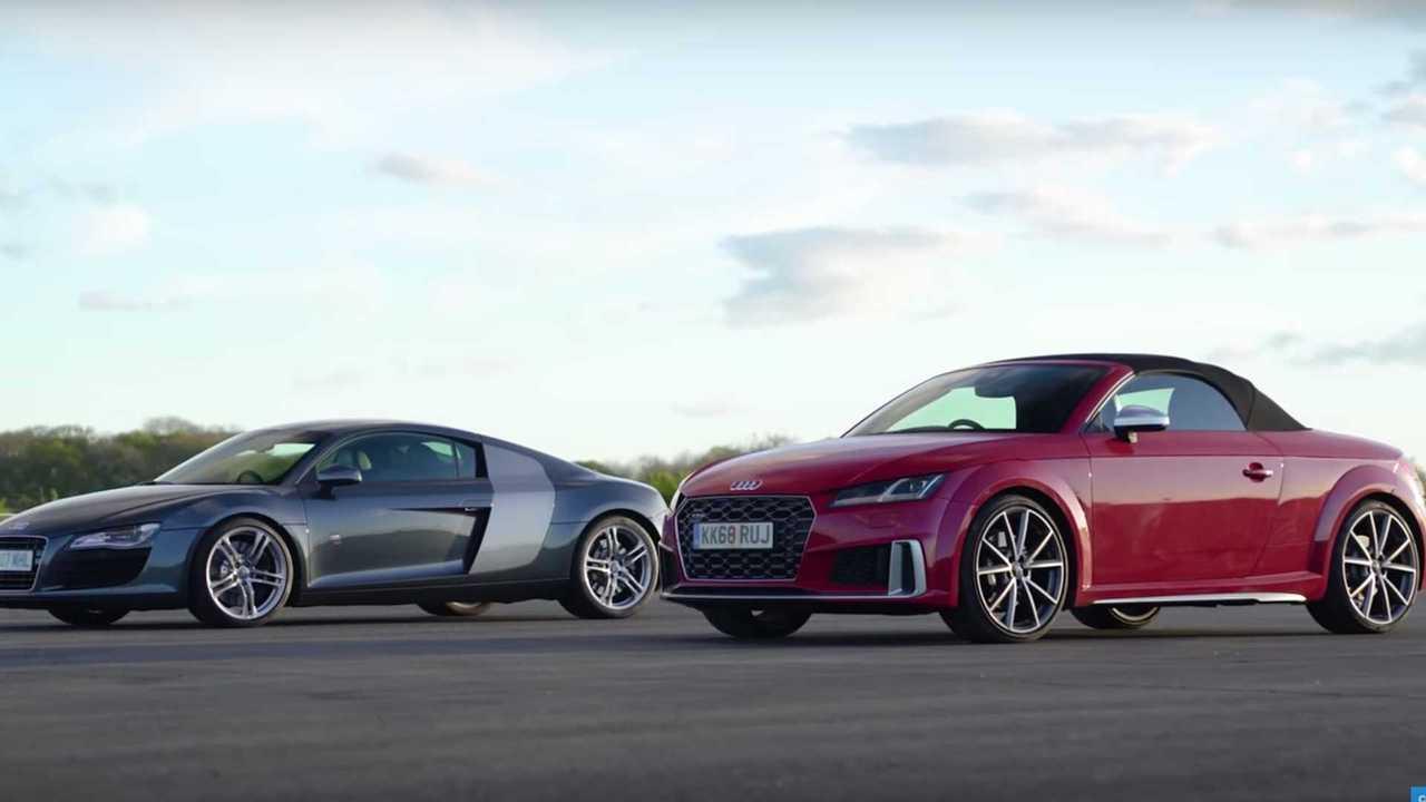 Lásd a 2008. évi Audi R8 V8 Drag Race versenyt. A legújabb TTS Roadster