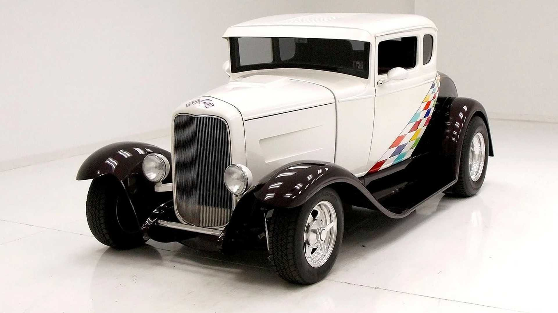 "[""Immaculate 1931 Ford Model A Coupe Boasts Stunning Paint Job""]"