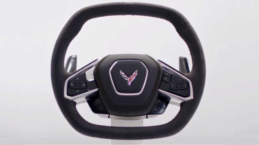 C8 Corvette steering wheel, engine sound unveiled ahead of debut