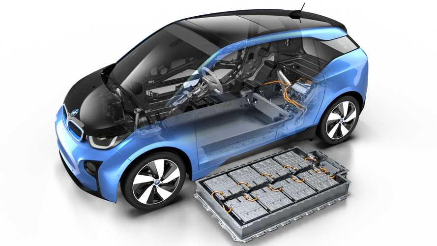 BMW i3 mit Batterie (Symbolbild)
