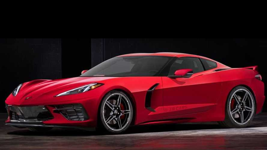 Front engine C8 Corvette renderings