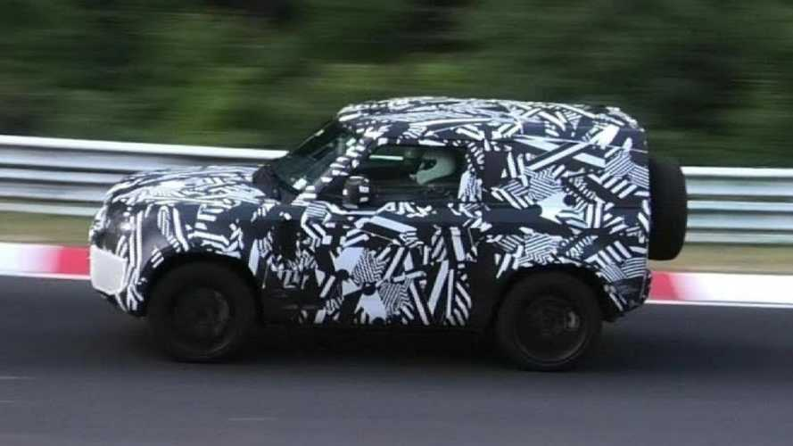 2020 Land Rover Defender spied testing both wheelbases at the 'Ring
