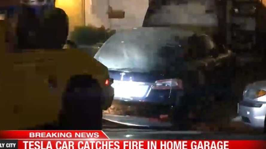 Video: Tesla Model S Mysteriously Catches Fire In Garage