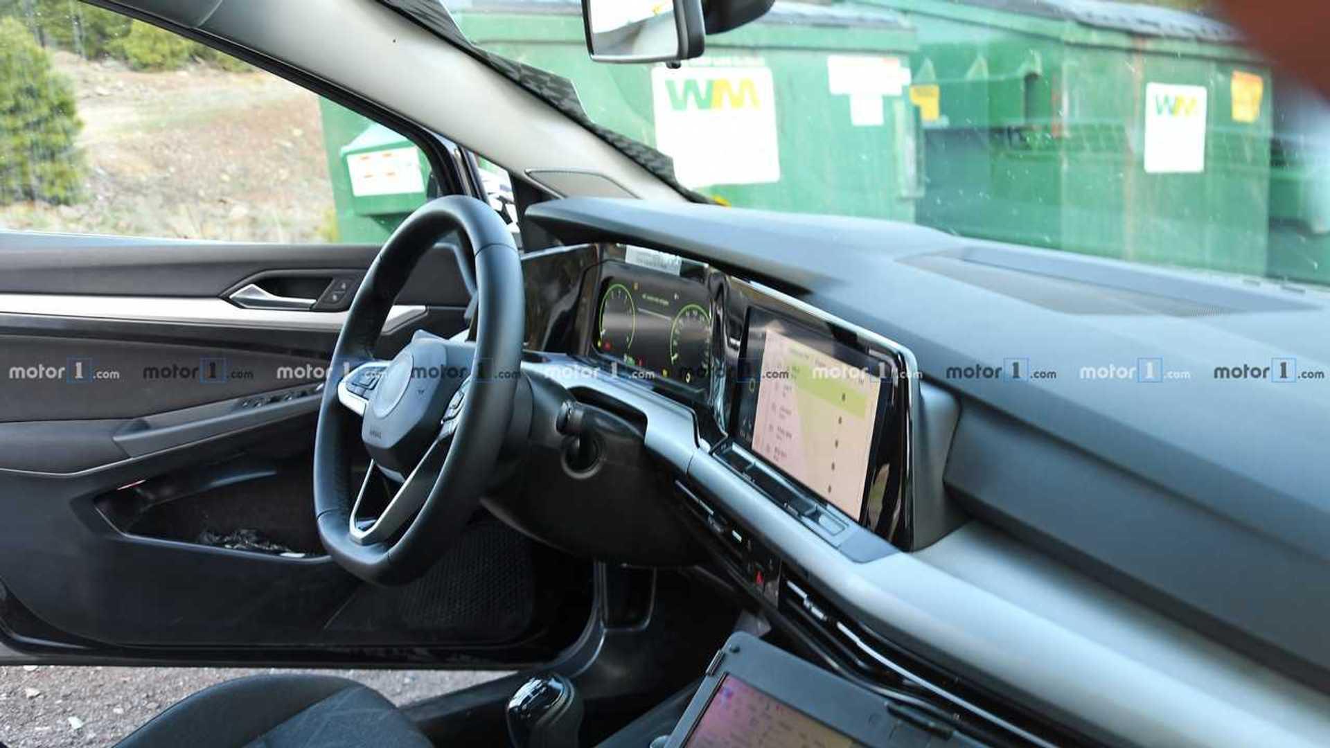 VW Golf 8 (2019): Innenraum erstmals fotografiert