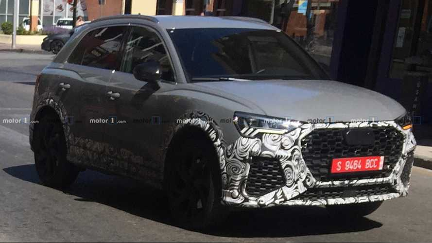 Audi RS Q3 spied testing by Motor1.Com reader