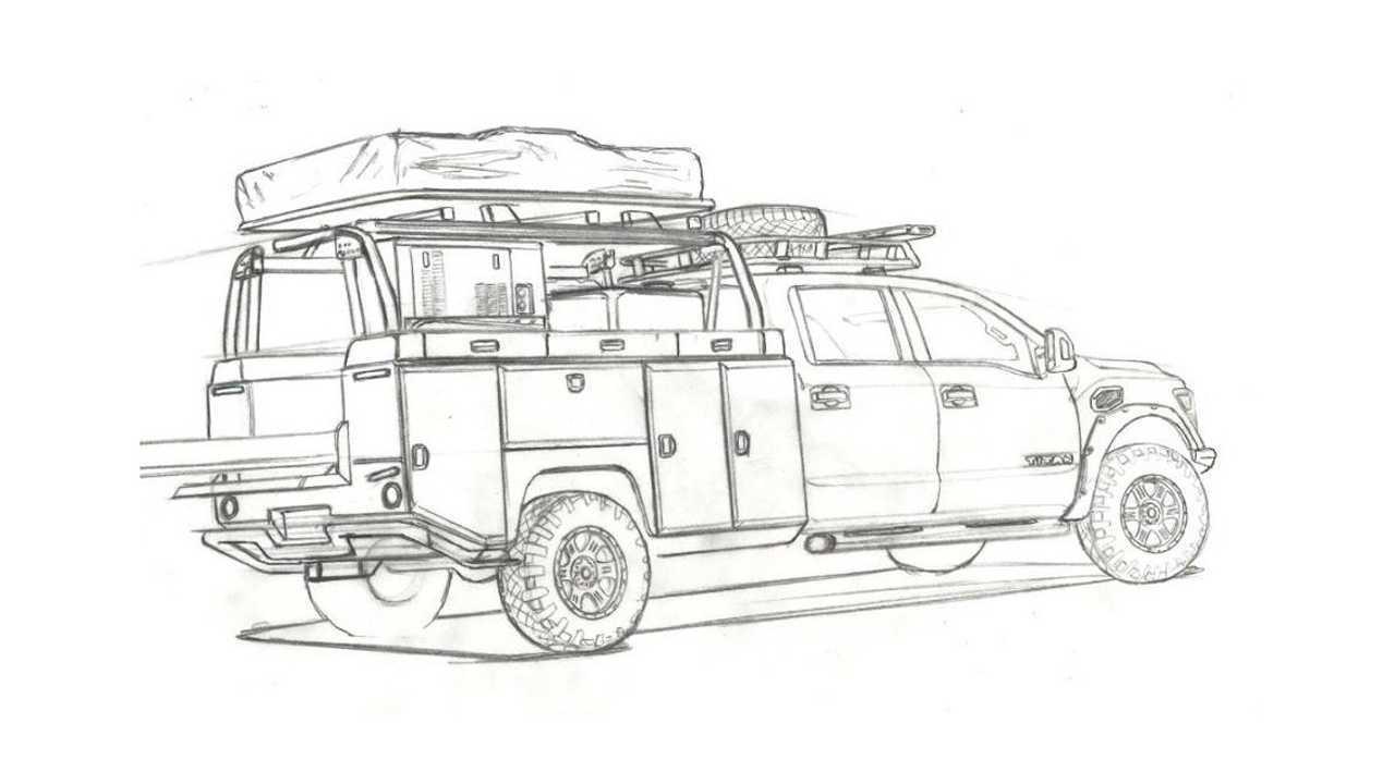 Nissan Ultimate Titan teaser sketch