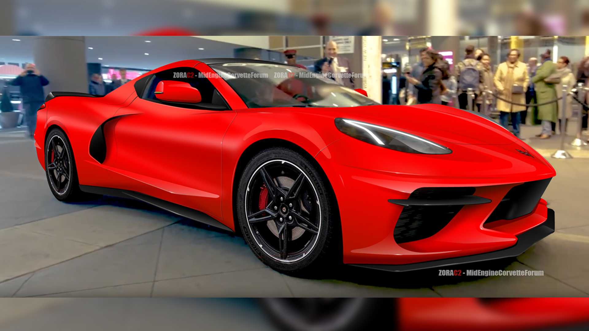 Fresh Mid-Engined C8 Corvette Rendering Depicts A Curvy Supercar