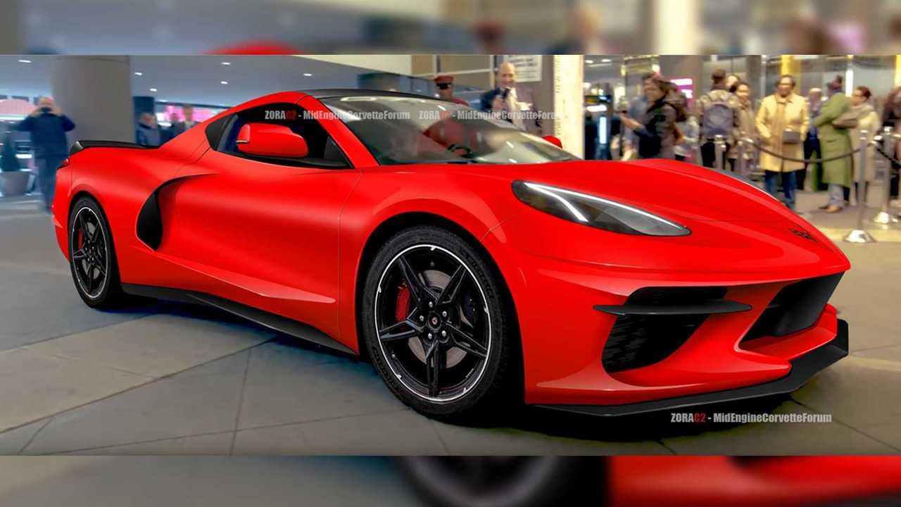 Yeni C8 Corvette render