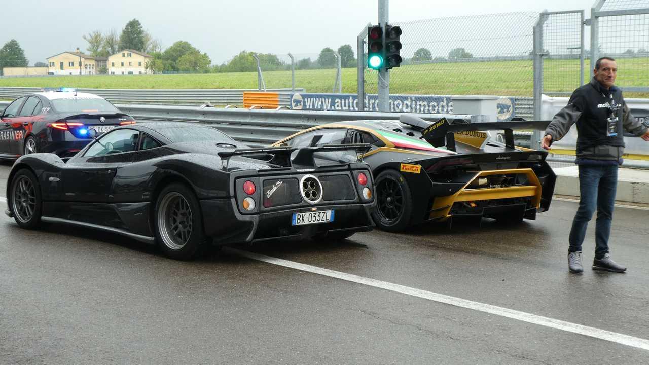 Pagani Zonda S et Lamborghini Huracan Evo GT3