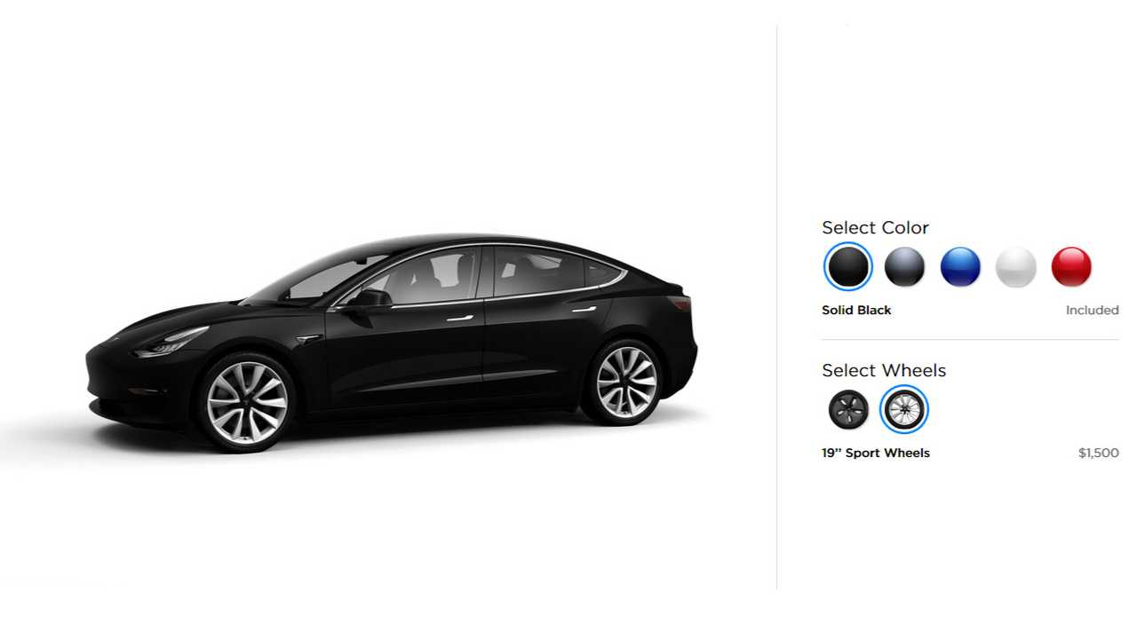 From July On, Tesla Will Change Base Color From Black To White