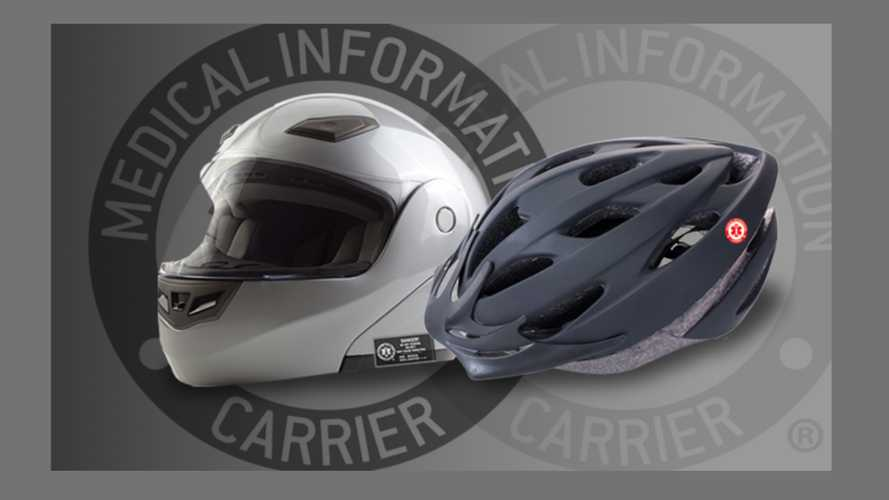 Today's Lifesaver: A Motorcycle Helmet Information Tag