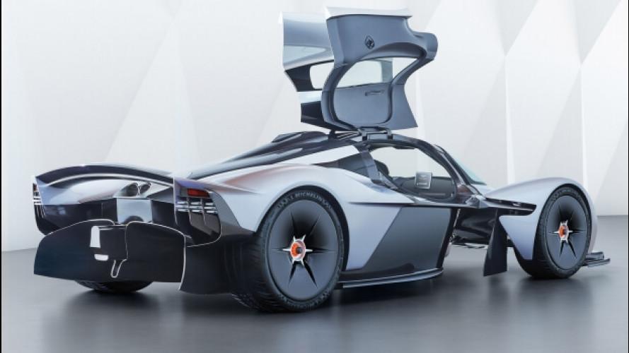 Aston Martin Valkyrie, foto e segreti della F1 stradale ultraleggera