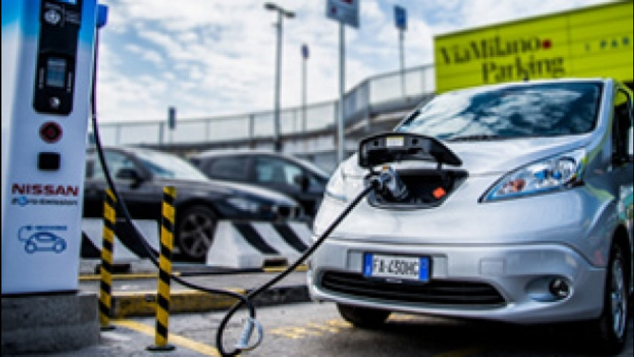 L'auto elettrica si ricarica anche all'aeroporto di Milano Linate