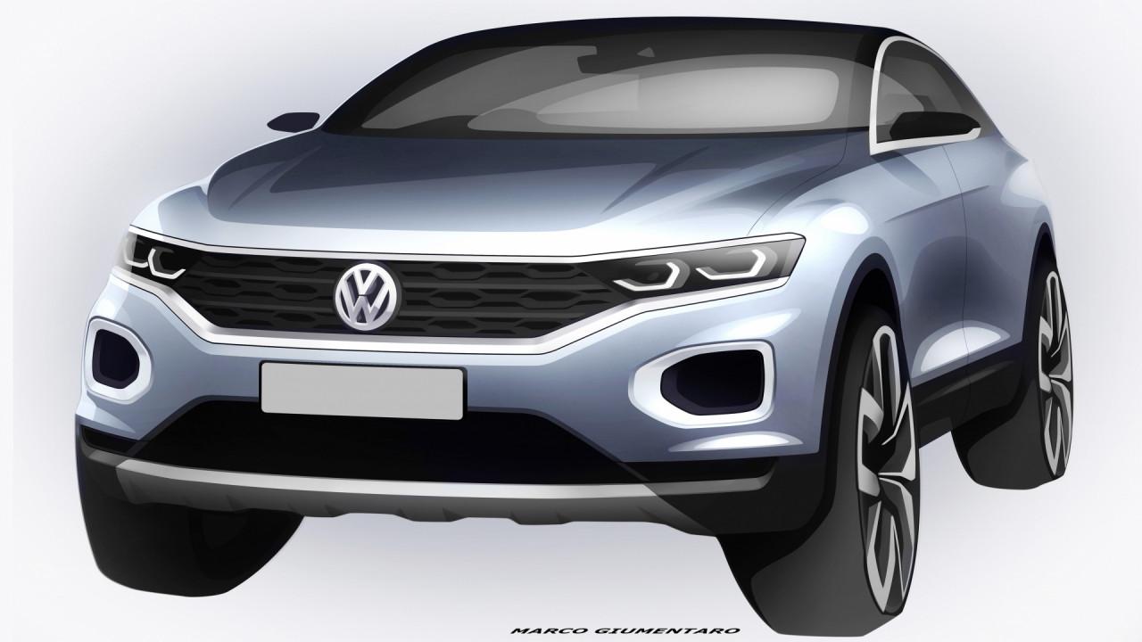 [Copertina] - Volkswagen T-Roc, il B-SUV si mostra nei bozzetti ufficiali