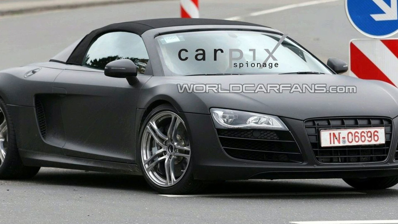 audi r8 cabrio photos. Black Bedroom Furniture Sets. Home Design Ideas