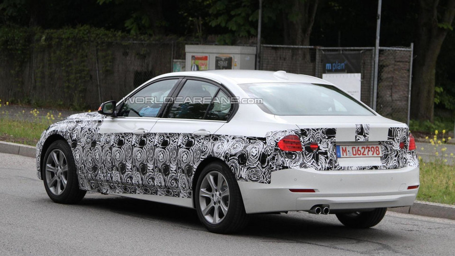 2012 BMW 3-Series spied with less camouflage