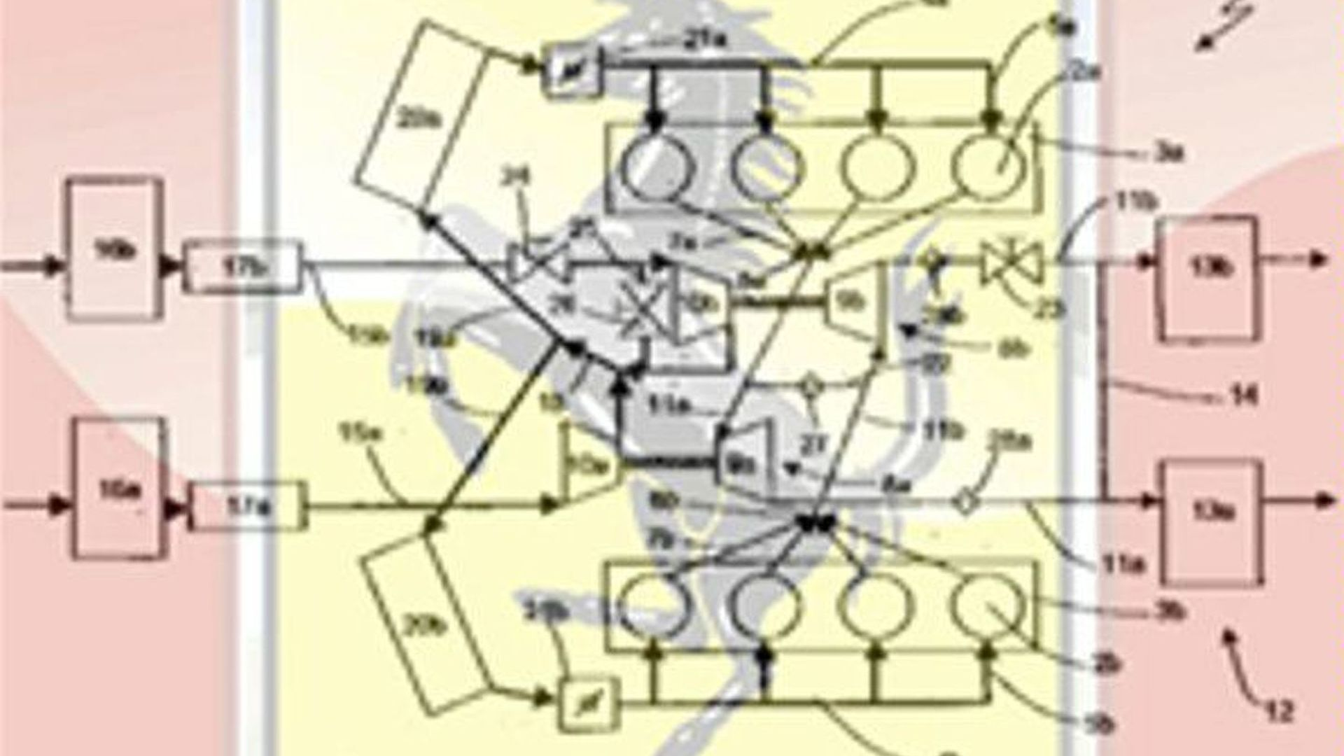 Ferrari twin turbo V8 engine patent schematic - 329189 | Twin Turbo V8 Engine Diagram |  | Motor1.com