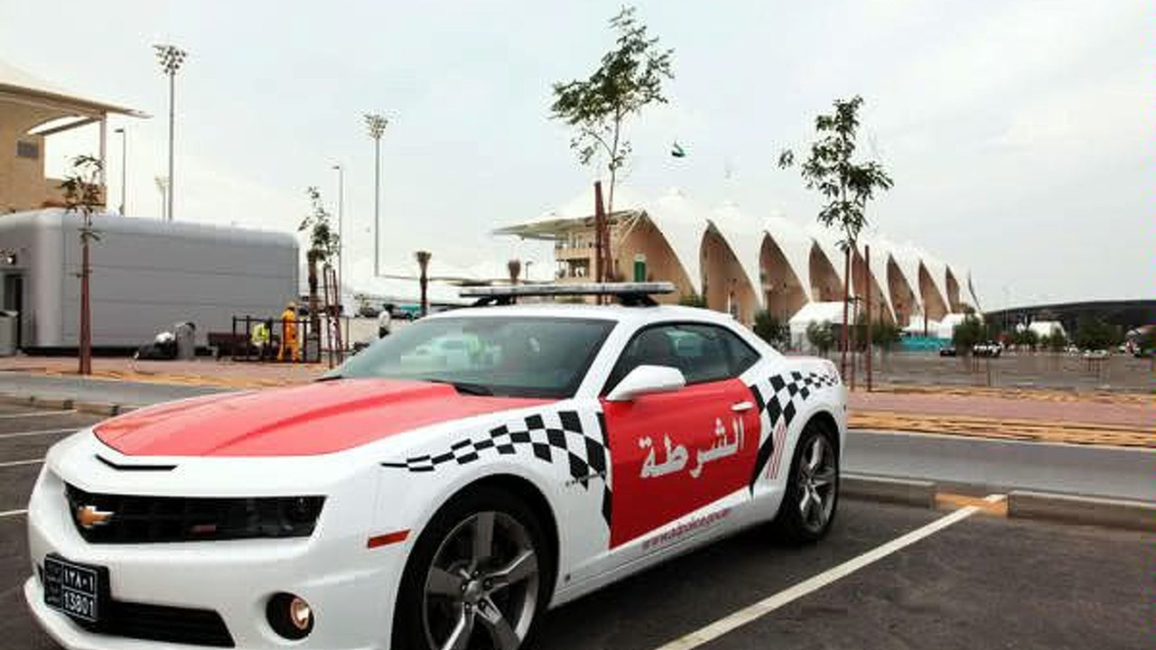 Chevrolet Camaro police car in Abu Dhabi, UAE