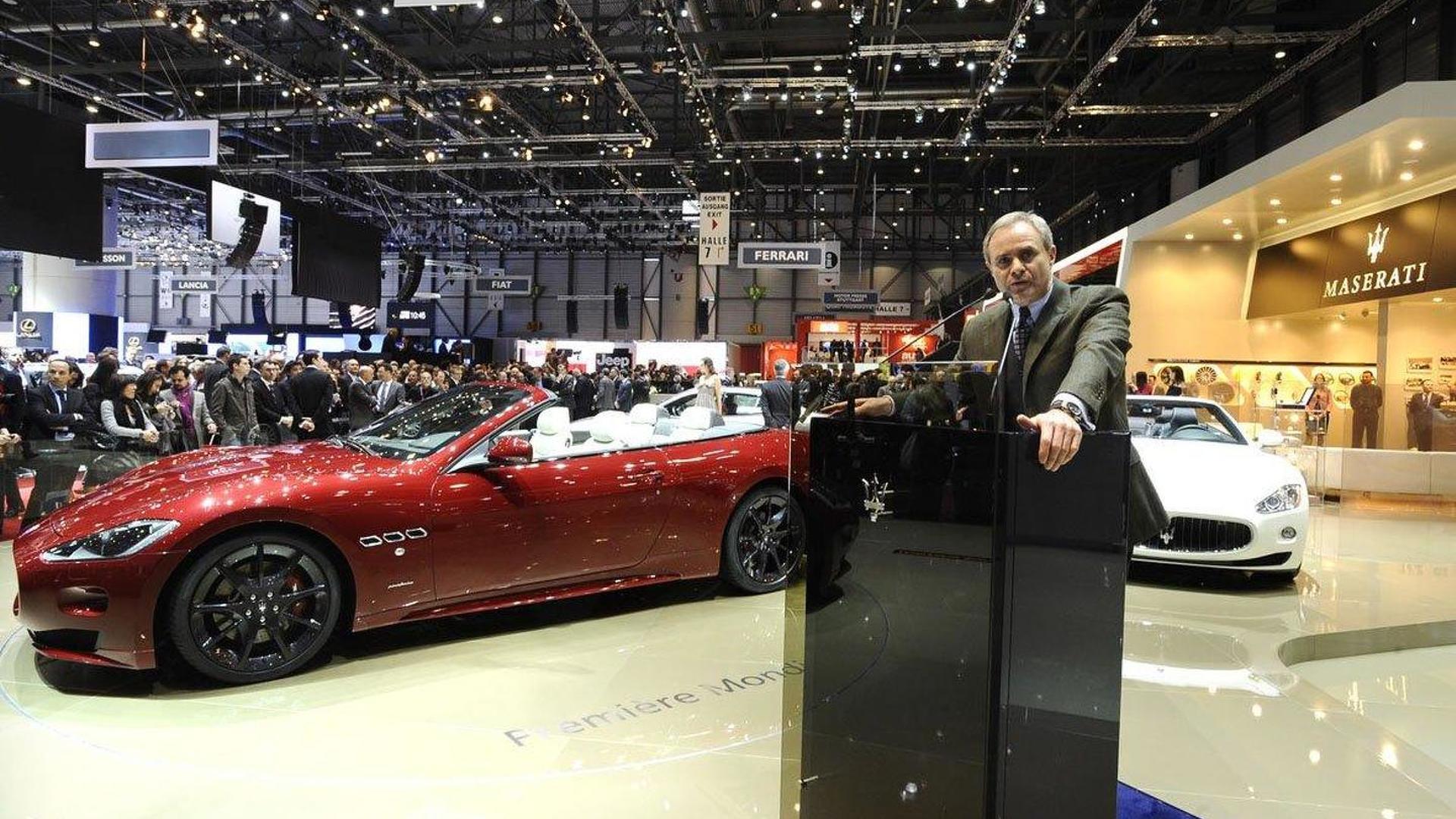 official photos 55912 f9a43 Maserati GranCabrio Sport live in Geneva, CEO Harald Weste ...