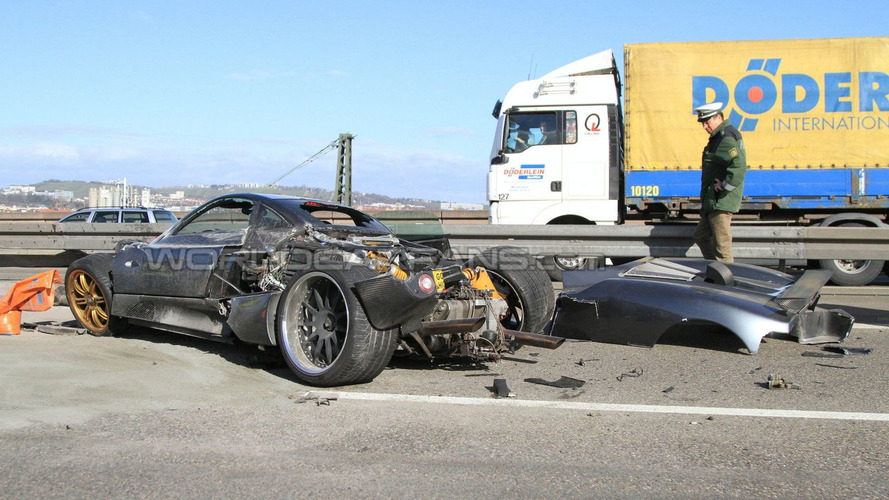 Pagani C9 Prototype Autobahn Crash in Germany
