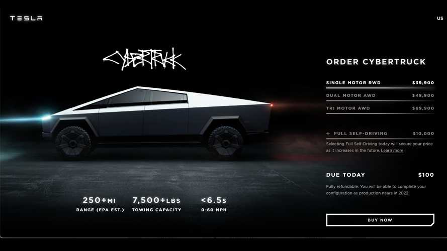 Tesla Cybertruck Page Updated... With Removal Of Specs And Price